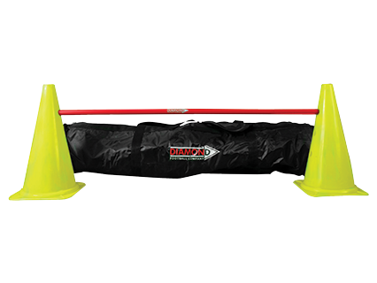 Adjustable soccer pole set