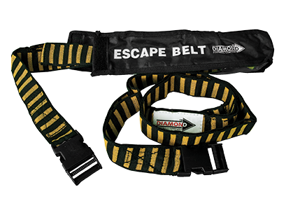 Diamond escape belt with velcro ties