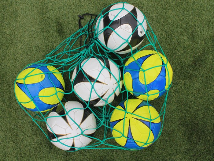 Diamond ball carry net made from strong and durable rope