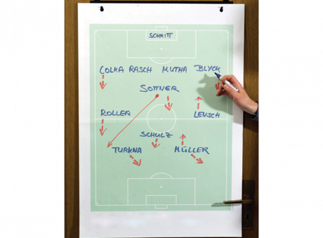 Diamond flip chart for soccer analysis