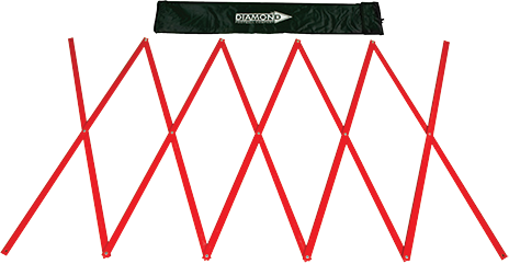 Red training ladder for agility training