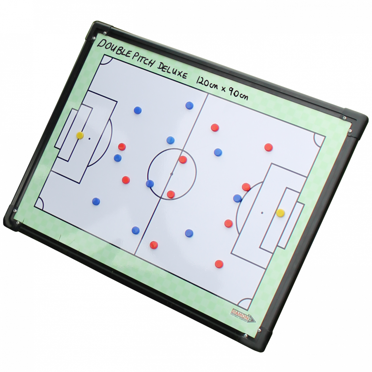 Tactic board which features two pitches