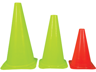 soccer traffic cones