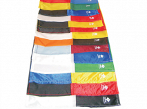 A range of different colour corner flags to choose from