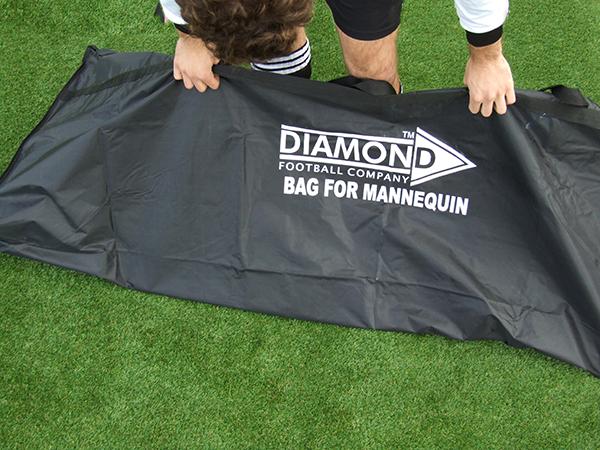 HOLDS 5 MANNEQUINS BRAND NEW DIAMOND FOOTBALL BLACK MANNEQUIN BAG