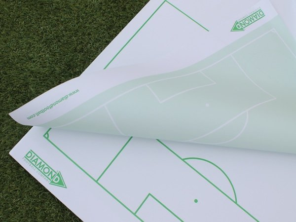 Two Sided Soccer Tactics Flipchart from Diamond