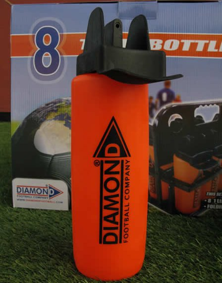 Diamond team water bottle ideal for team training or quick match breaks
